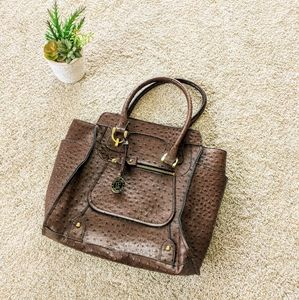 London Fog Brown Crocodile Purse